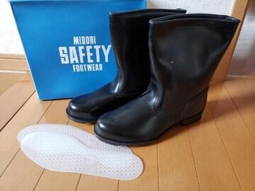 革製 安全靴 JIS T 8101 ミドリ安全 半長靴 雨 畑 作業靴 27.0cm