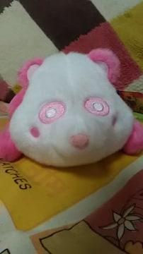 AAA・え〜パンダ・くったりパスケースぬいぐるみ・ピンク 末吉