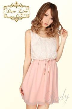 Rady☆レースシフォンワンピ☆ピンクベージュ☆新品タグ付き