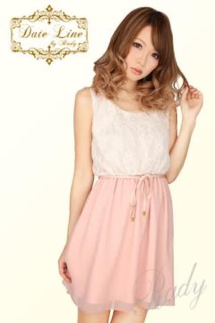 Rady☆レースシフォンワンピ☆ピンクベージュ☆新品タグ付き  < ブランドの