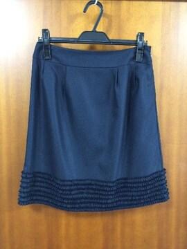 アローズ☆ネイビー☆裾フリルスカート