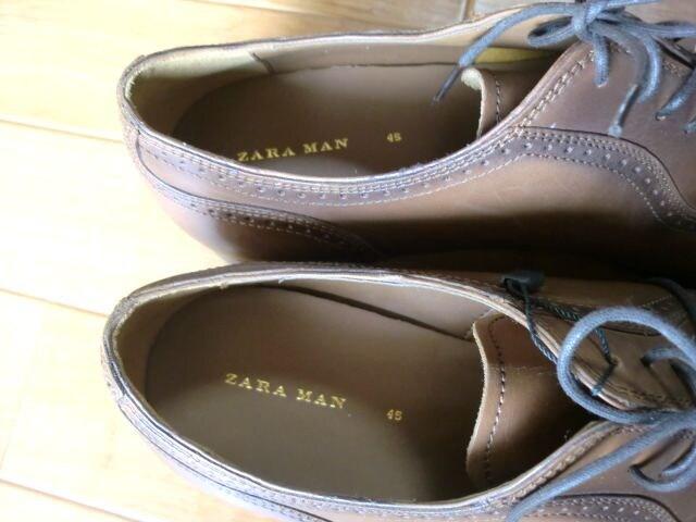 ZARA MAN ザラマン レザーシューズ 45 29センチ 新品 < 男性ファッションの