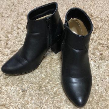 黒ショートブーツ Lサイズ  らくらく便600円