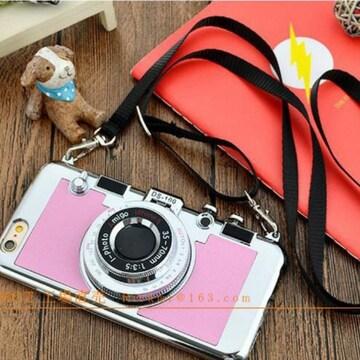 新品☆ミラー付きカメラ型スマホケース