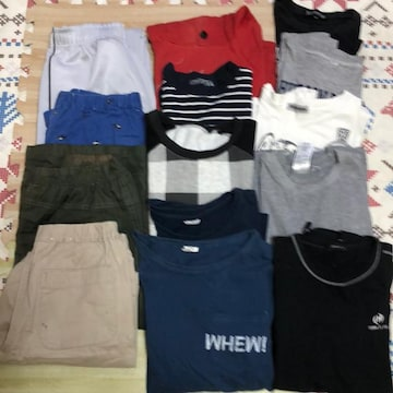 送料無料 150-160サイズ 男の子まとめ売り服 パンツ等 14点
