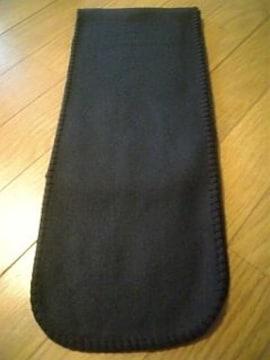 新品 無地フリースマフラー 黒