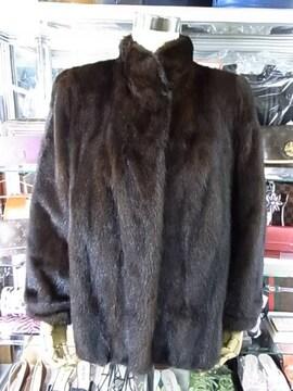 最高級 ミンク毛皮 ハーフコート Lサイズ 美品 X-553★dot