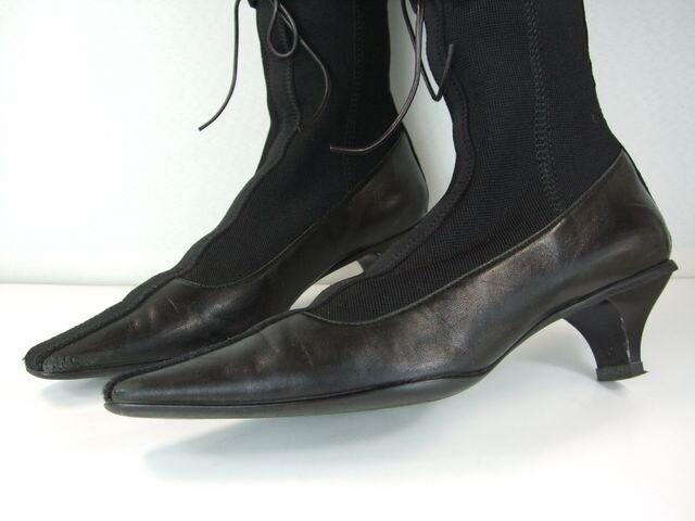 プラダレディースロングブーツ ブラック系 < ブランドの