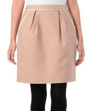 新品タグ付groveグローブジャガードコクーンスカート ピンクベージュ ワールド