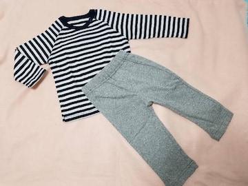 新品 お着替え楽ちん!長袖Tシャツ+やわらかカットソーパンツset