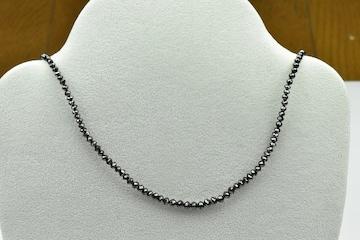 K18WG 合計 20.00ct ブラックダイヤモンド ネックレス
