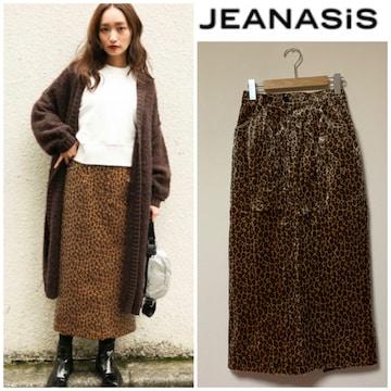 ☆JEANASIS ロングペンシルレオパードスカート☆