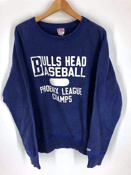 CHES WICK(チェス ウィック)bulls head baseball プリント クルーネック スウェットスウェ
