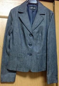 新品☆Mサイズ☆高級シングルテーラードジャケット☆デニム