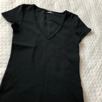 送料無料 アナップ 黒 レディースTシャツSサイズ トップス