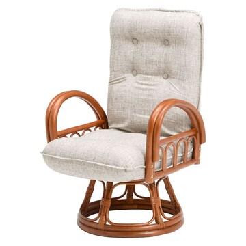 籐ギア付回転座椅子 RZ-1165BR