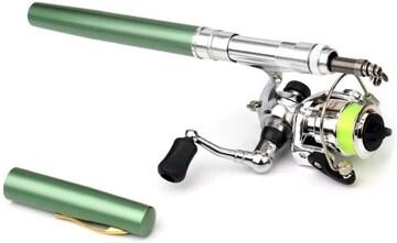 ペン型ロッド スピニングリール 釣りロッド  1M