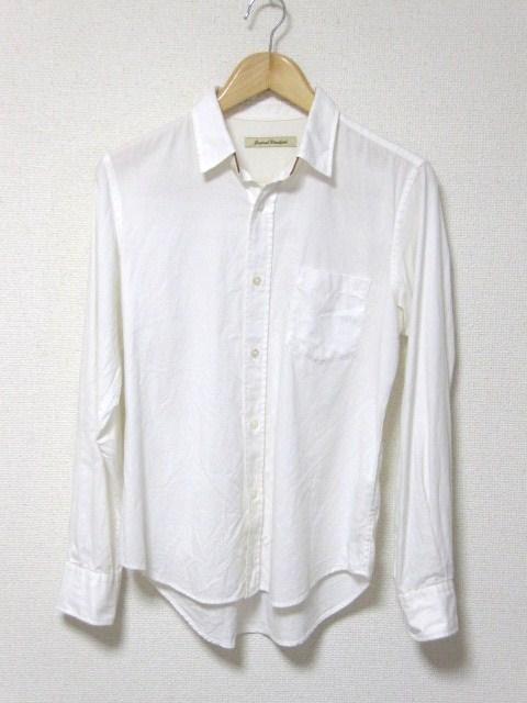 □ジャーナルスタンダード 長袖 シャツ/白/メンズ・S/革  < ブランドの