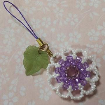 【handmade】お花のストラップ
