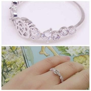 指輪 18K RGP バラ 小粒 上品 リング yu1108e