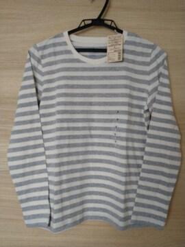 MUJI 無印良品 クルーネック長袖Tシャツ S 新品タグ付き