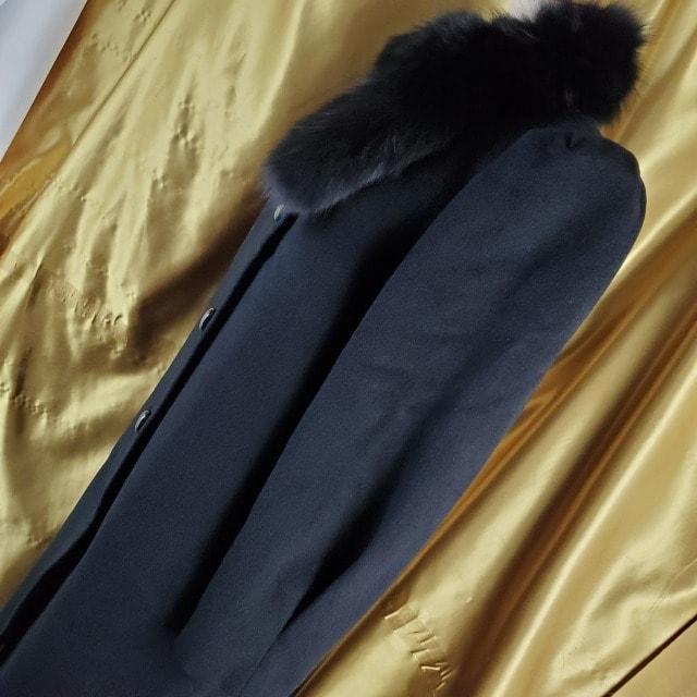 込み★493★LAPIKA★アルパカ混合&フォックス!ロングコート★ < 女性ファッションの