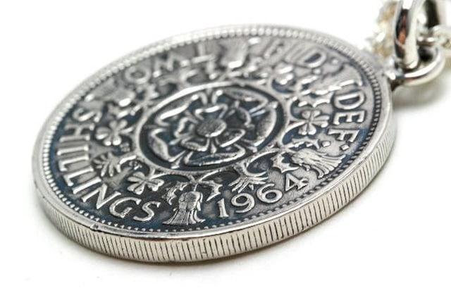 送料無料!イギリス2シリングコインペンダント(硬貨、コイン < 男性アクセサリー/時計の