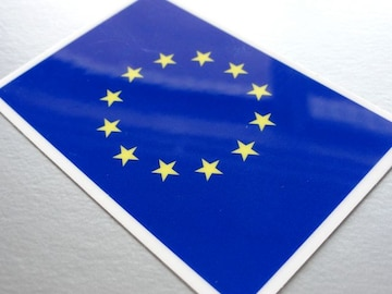 1□EU旗ヨーロッパ連合ステッカー☆1枚即買☆