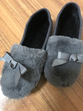 *?*新品*?*今人気ふわふわファーリボン付き靴24.5
