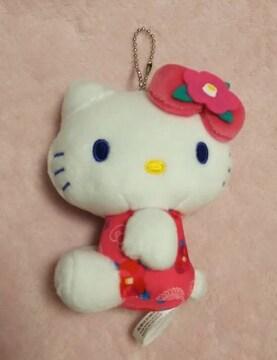 キティ☆マスコット☆和風柄☆ツバキ