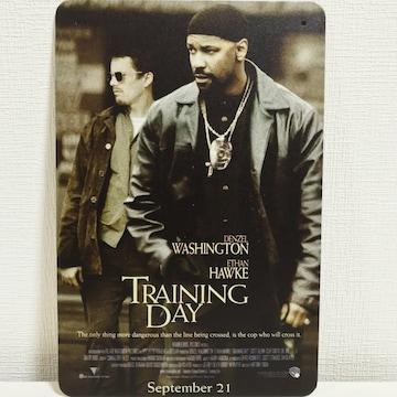 TrainingDayトレーニングデイ/映画ポスター ブリキ看板 20x30