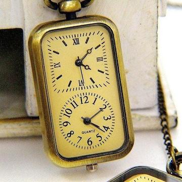 青銅石英懐中時計 ネックレス ペンダント