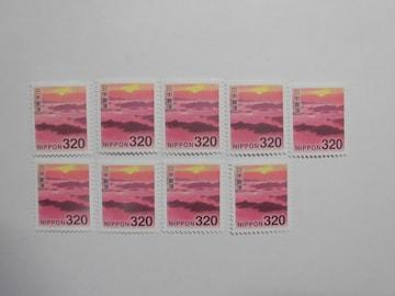 320円切手9枚 90% 変更増減可