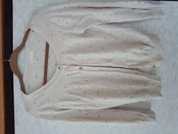 ジーナシス ドット刺繍 カーデ