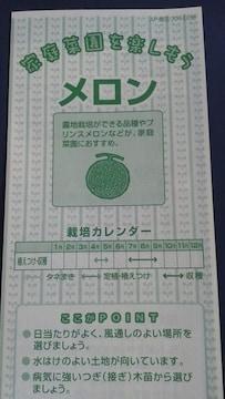 家庭菜園、メロンの栽培方法冊子 めろん