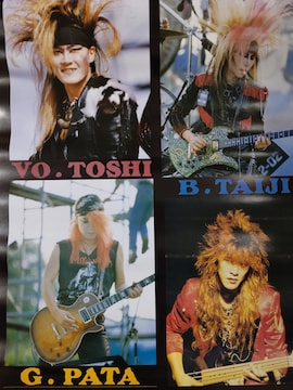 X JAPAN ポスター 1989 YOSHIKI hide ToshI Taiji PATA