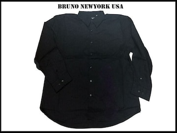 新 【黒色-3XLB】 Bruno Newyork シャツ人気ビッグサイズ