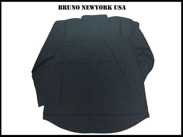 新 【黒色-3XLB】 Bruno Newyork シャツ人気ビッグサイズ < 男性ファッションの