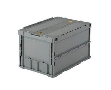 薄型折りたたみコンテナ 50Lロックフタ付