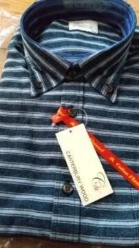 4Lサイズ!ブランド品カンタベリーウッド高貴紳士的オックス起毛ボタンダウン長袖シャツ!