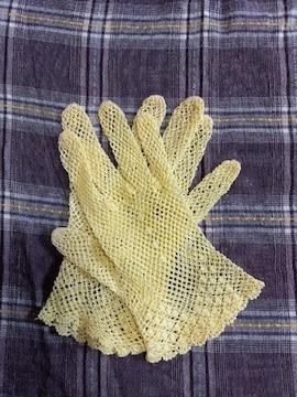 �S 黄色の手袋