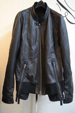 LGBルグランブルー レザーライダースジャケット ディアスキン