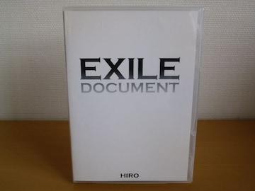 DVD EXILE DOCUMENT HIRO / DVD 1枚 送料込み