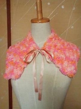 手編みふわもこ襟元きっちり飾り襟