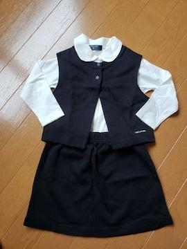 ☆新品同様1回着☆コムサデモード☆黒3点セットアップ☆90