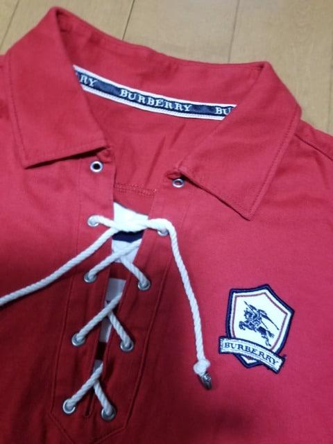 ◆BURBERRY◆編み上げポロシャツ◆ < ブランドの