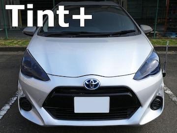 Tint+何度も貼れる アクア NHP10 中期 ヘッドライト スモークフィルム