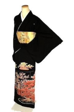 【最高峰】新品同様 本加賀友禅作家【矢田 博】黒留袖 T2221