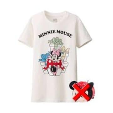 ユニクロ×Disney・ミニーマウスTシャツ。ホワイト