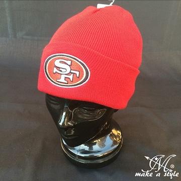 NFL サンフランシスコ 49ers ニットキャップ ビーニー レッド333